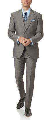 Grey slim fit Italian wool luxury suit