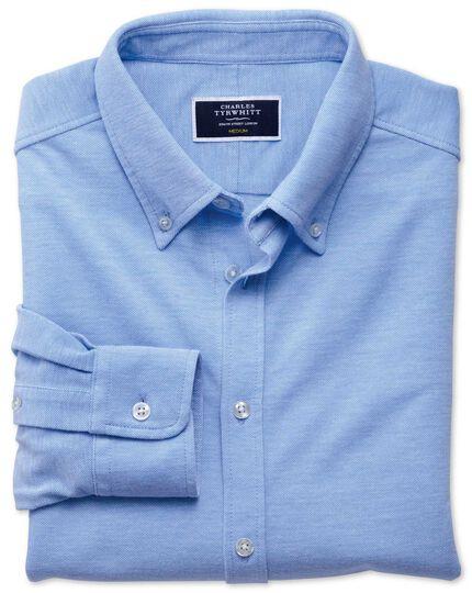 Sky Oxford jersey shirt