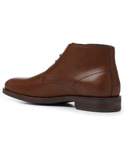 Brown performance chukka boots