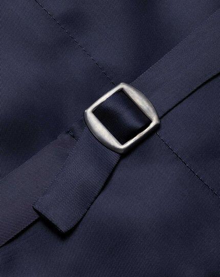 Navy adjustable fit British serge luxury suit waistcoat