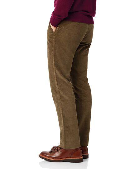 Tan jumbo cord trousers