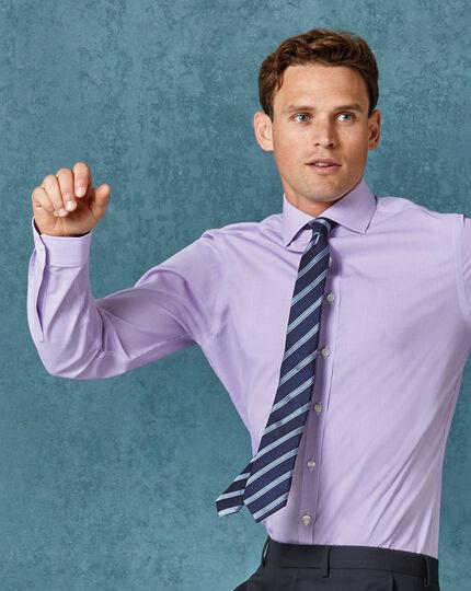 Schmale Krawatte mit Streifen in Marineblau & Himmelblau