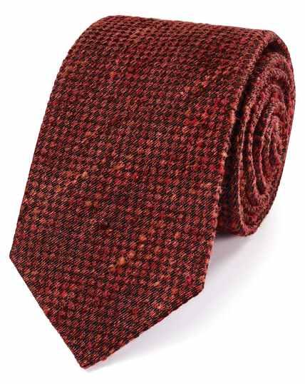 Orange fleck luxury silk tie