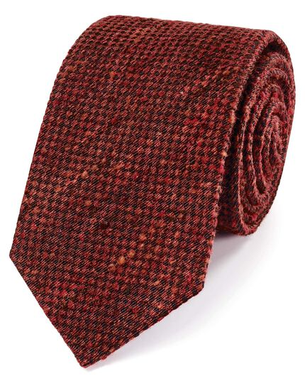 Orange fleck luxury silk tie