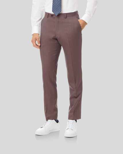 Twill Business Suit Pants - Fig