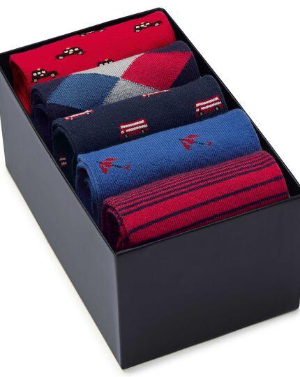 Motif sock gift box