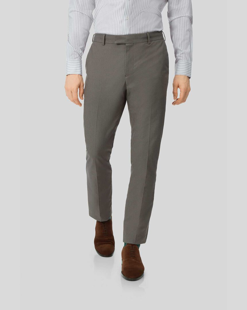 Pantalon Stretch sans repassage - Marron foncé