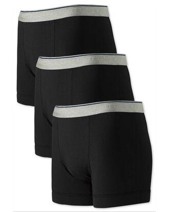 3er Pack Jersey-Unterhosen in Schwarz