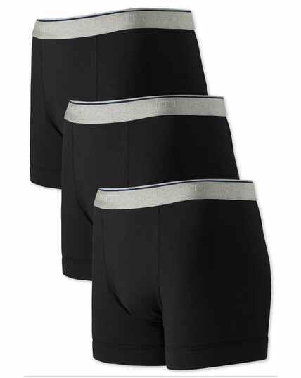Black jersey 3 pack trunks