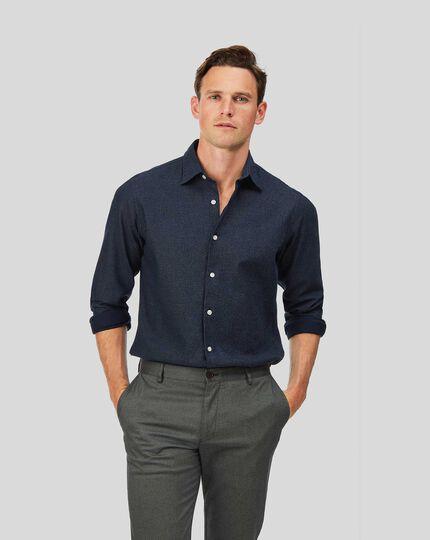 Honeycomb Soft Washed Shirt - Navy