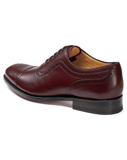 Chaussures Oxford bordeaux à cousu Goodyear