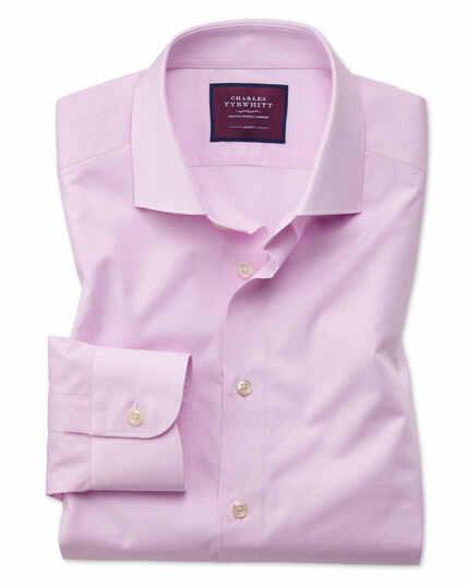 Classic fit pink fine stripe luxury shirt