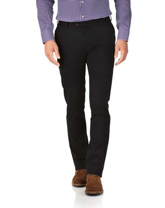 Black extra slim fit stretch chinos