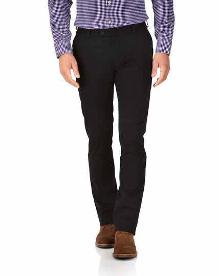Pantalon chino noir en tissu stretch extra slim fit