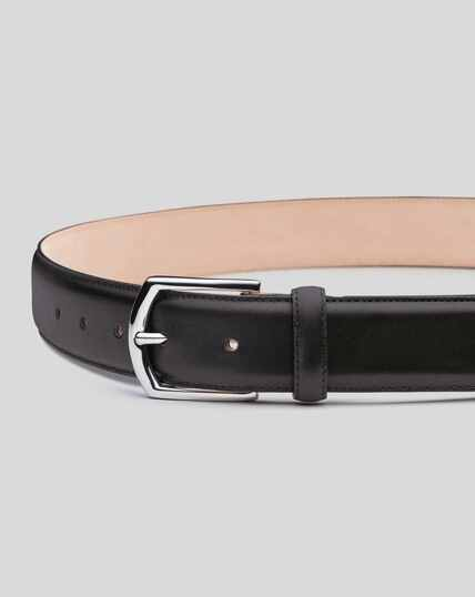 Made in England Leather Formal Belt - Black