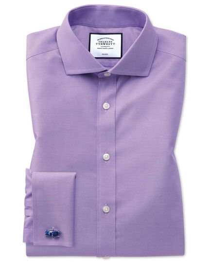 Non-Iron Twill Cutaway Collar Shirt - Lilac