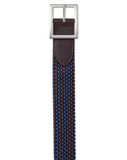 Navy reversible casual stretch belt