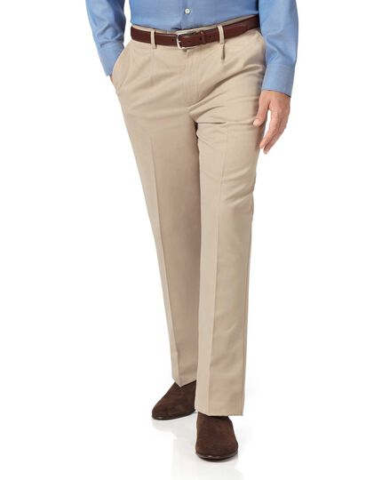 Stone classic fit single pleat non-iron chinos