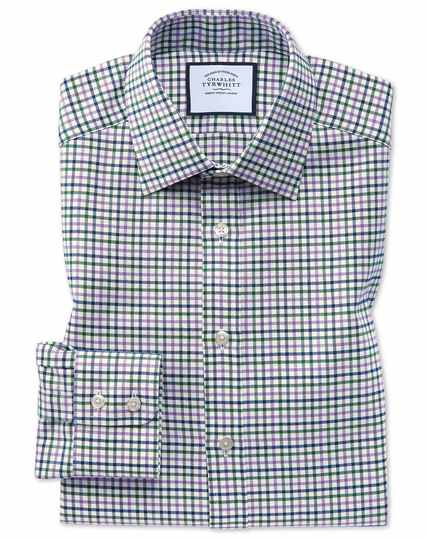 Country Check Shirt - Purple And Green