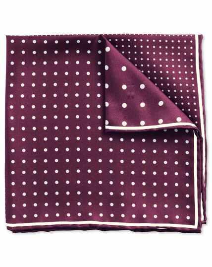 Burgundy classic quarter spot pocket square