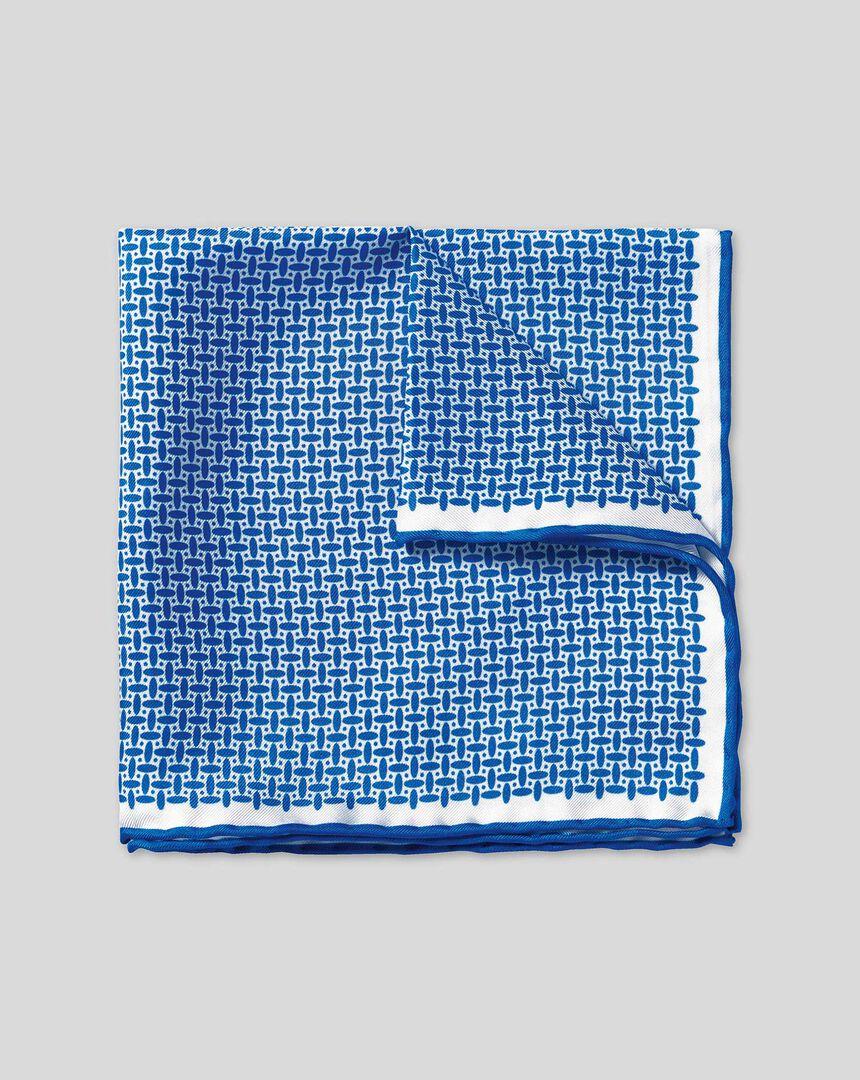 Oval Print Pocket Square - Royal Blue