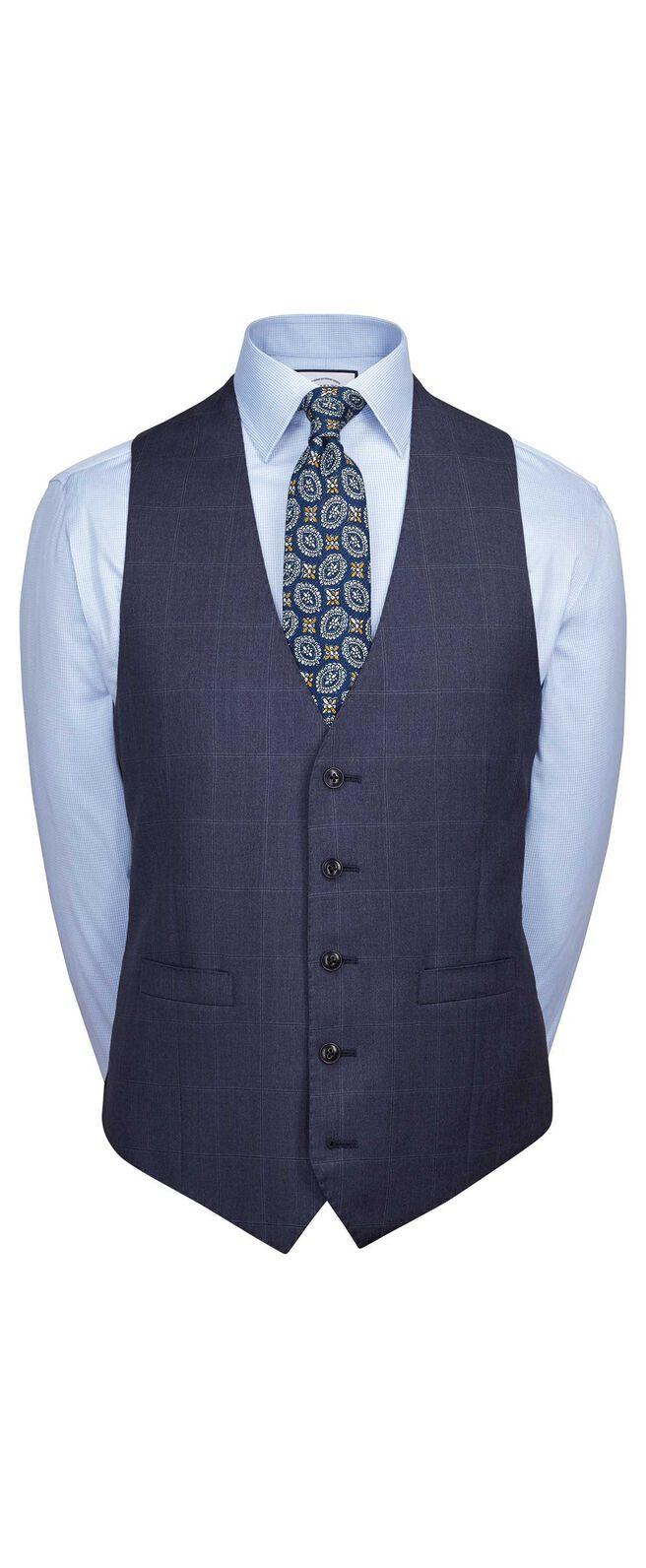 Airforce blue slim fit Italian suit