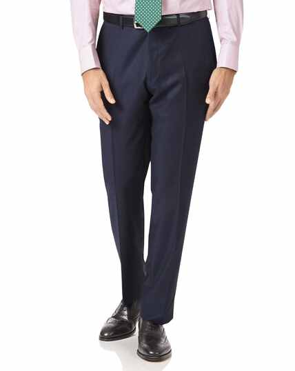 Navy slim fit luxury italian suit pants