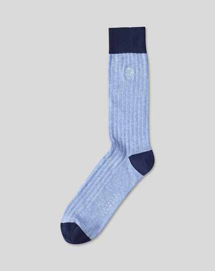 England Rugby Cotton Rib Socks - Sky