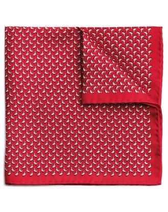 Einstecktuch aus Seide mit Entenmotiv in Rot