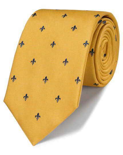 Gold silk fleur-de-lys classic tie