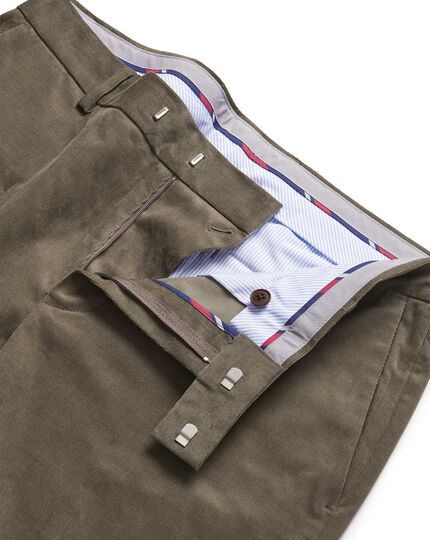 Mocha needle cord pants