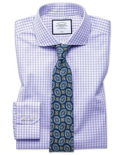 Bügelfreies Slim Fit Tyrwhitt Cool Hemd mit Karos in Violett