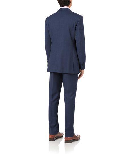 Airforce blue slim fit sharkskin travel suit jacket