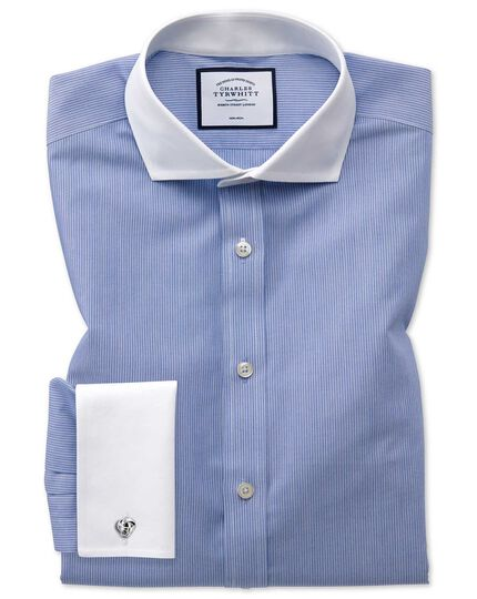 Slim fit non-iron Winchester blue shirt