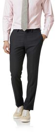 Charcoal birdseye slim fit travel suit