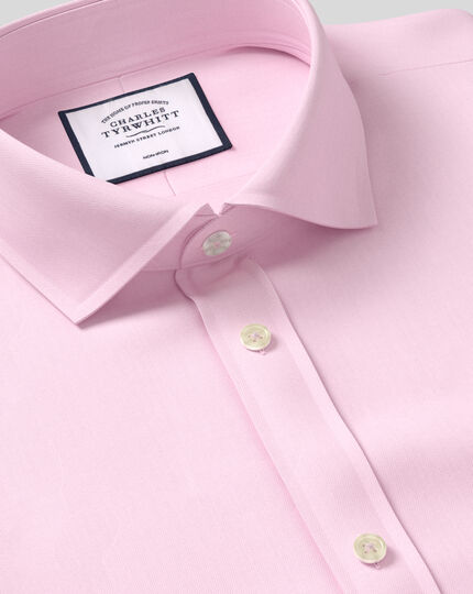 Chemise Col Cutaway Twill Sans Repassage - Rose