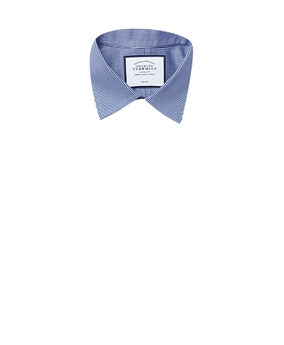 Slim fit non-iron puppytooth royal blue shirt