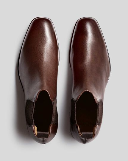 Goodyear Welted Chelsea Boots  - Brown