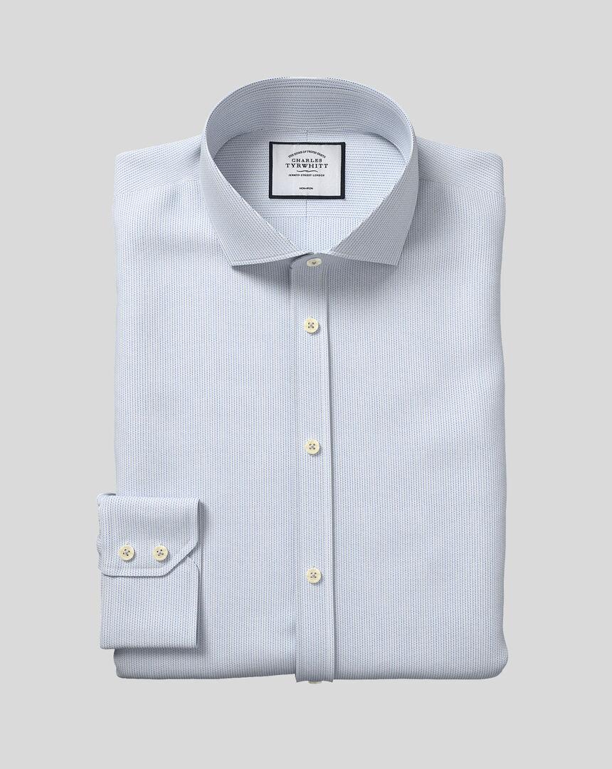 Cutaway Collar Non-Iron Cotton Stretch Shirt - Sky