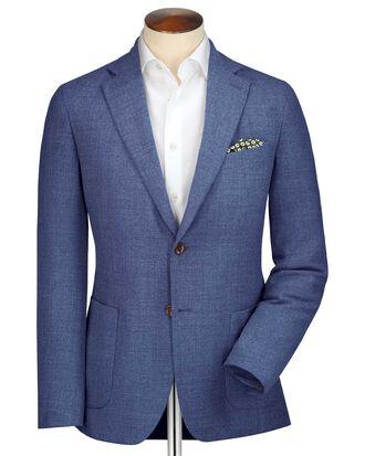 Blazer bleu clair en laine italienne slim fit