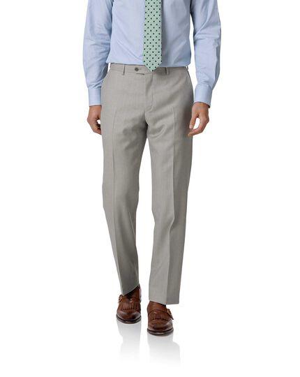 Costume business gris clair en twill coupe droite