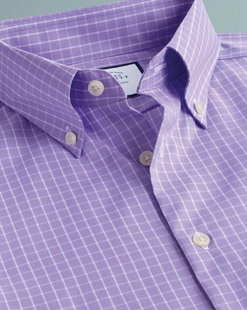 Business-Casual-Hemd Bügelfrei mit Button-down-Kragen - Lila