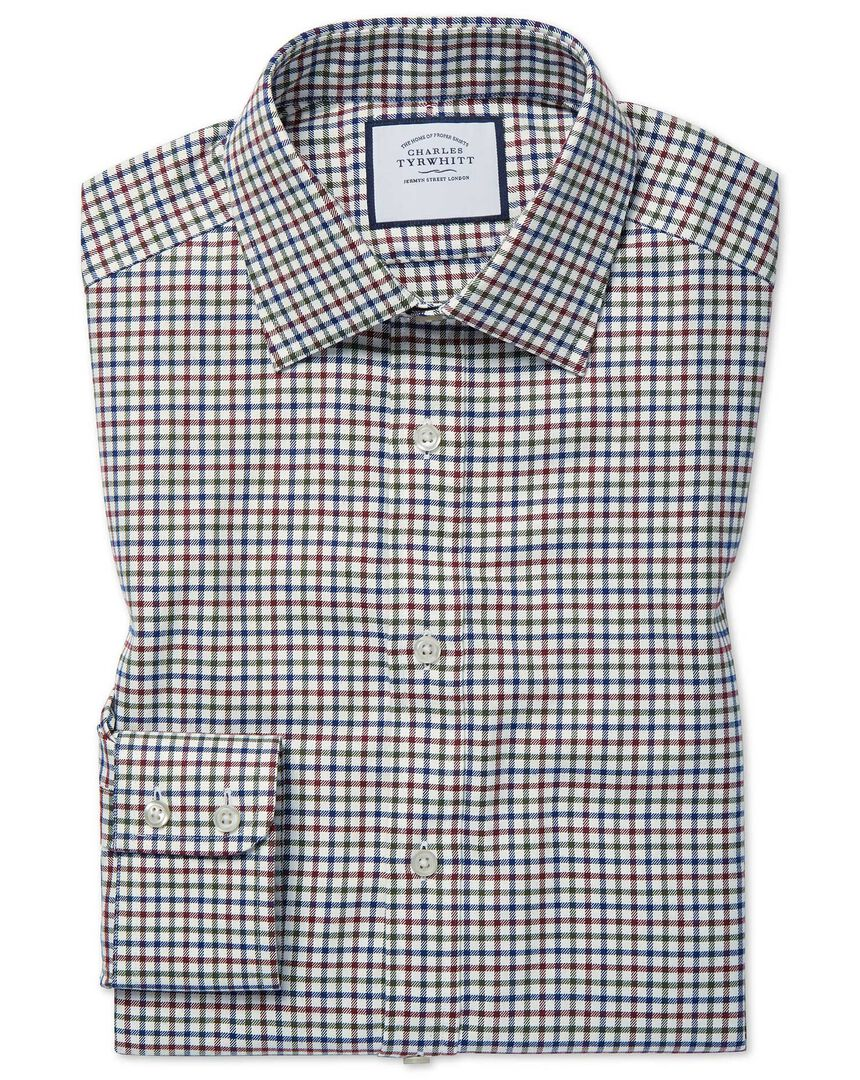 Country Check Shirt - Navy And Berry