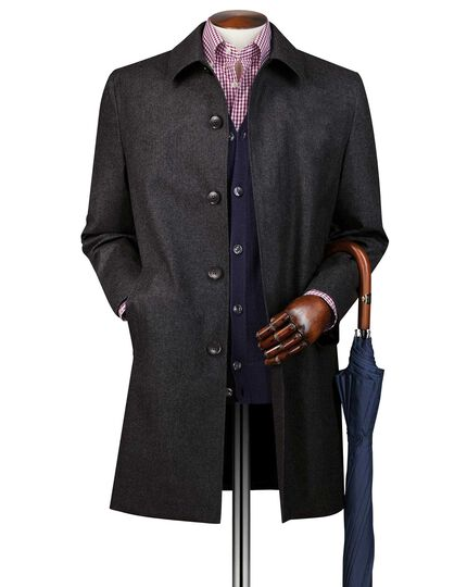 Grey Italian wool raincoat