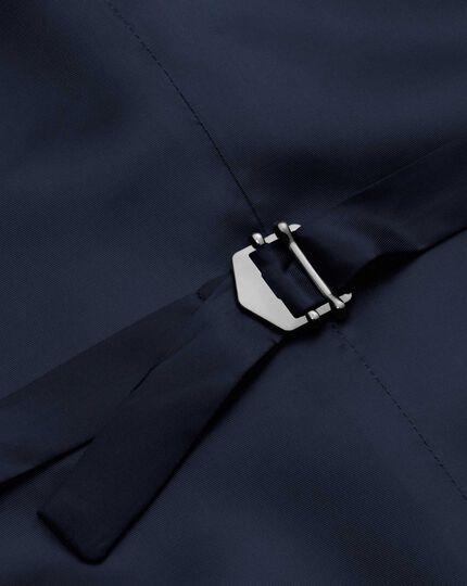 Royal blue adjustable fit twill business suit vest