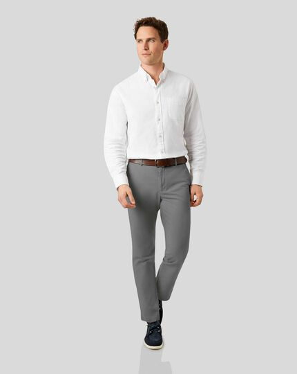 Soft Washed Chinos  - Grey