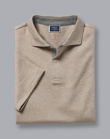 Cotton Hemp Polo - Mocha