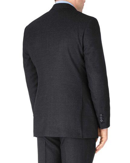 Charcoal slim fit British serge luxury suit jacket