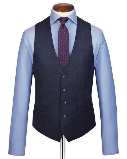 Navy adjustable fit jaspe business suit vest