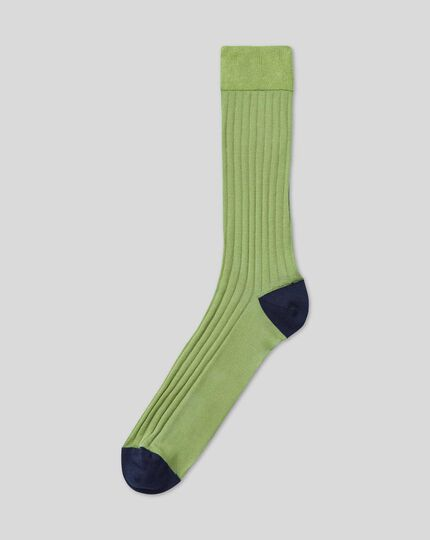 Cotton Rib Socks - Light Green